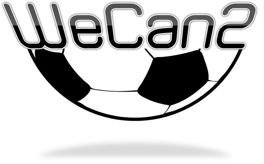 We can too play soccer logo